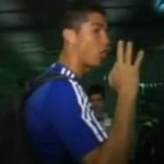 Ronaldo And Mourinho Make 'Robbery' Gestures At Barcelona Airport (Video)
