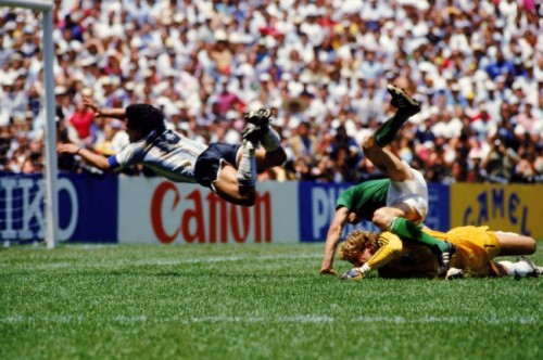 Soccer World Cup Mexico 1986 Final Argentina V West