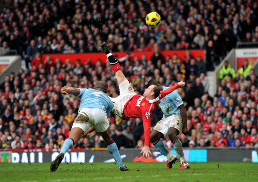 Wayne Rooney Overhead Wayne Rooneys Manchester Derby Overhead Kick The Animation