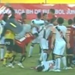 Sport Recife Keeper Viciously Kicks Unsuspecting Opponent In Neck, Promptly Banned For Life (Video)