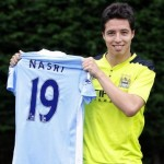 First Photos: Samir Nasri Officially Unveiled By Man City