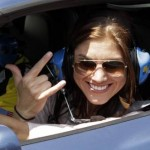 Hope Solo Drives Pace Car At NASCAR Brickyard 400 (Photos)