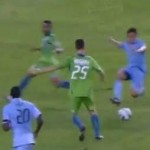 Omar Bravo Sent-Off For Nasty Lunge, Feigns Headbutt In Pissy Retaliation (Video)