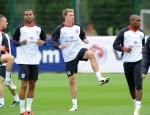 Soccer - UEFA Euro 2012 - Qualifying - Group G - Bulgaria v England - England Training - London Colney