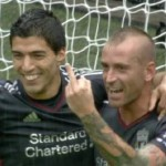 Football GIF: Raul Meireles Gives Lucas Cheeky Middle Finger Salute