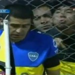 Moronic Olimpo Fan Spits At Juan Roman Riquelme (Video)