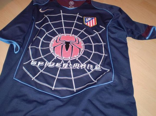 86e03bccf Shit Football Kits  Atletico Madrid s Spider-Man 2 Abomination