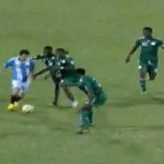 Lionel Messi's Ludicrous Dribble And Assist vs Nigeria (Video)