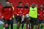 Soccer - UEFA Euro 2012 - Qualifying - Group G - England v Wales - Wales Training Session - Wembley Stadium
