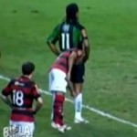 Flamengo&#8217;s Junior Cesar Attempts To Derail Penalty With Cunning Sock Fiddle (Video)