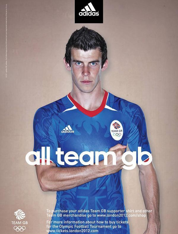 best authentic cea9e 3a67c Gareth Bale Poses In New British Olympic Football Kit, Welsh ...