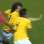 David Luiz &amp; Thiago Silva Suffer Wince-Inducing Face Collision vs Costa Rica (Video)