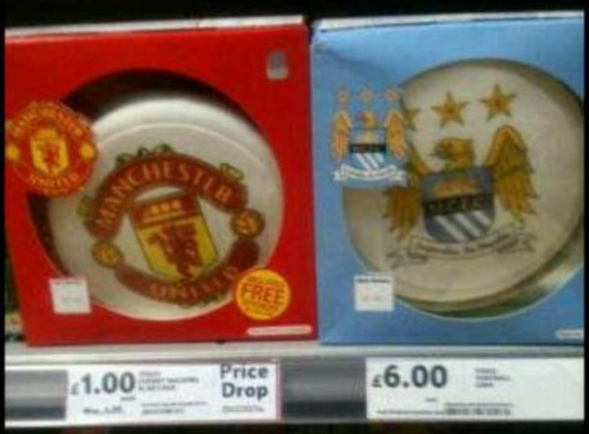 Snapshot Tesco Introduce Cheeky Man UtdMan City Cake Price Drop