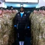 Sebastien Bassong Greets Armed Forces With Awkward March And Salute (Video)