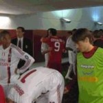 Football GIF: Bojan Gooses Zlatan Ibrahimovic's Almighty Scrotum, Zlatan Responds Favourably