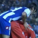 Football GIF: Deportivo La Coruna's Diego Colotto 'Man Marks' His Opponent Slightly Too Closely