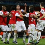 Champions League: Arsenal 2-1 Borussia Dortmund – Robin Van Persie Does A Goal Then Another Goal (Photos & Highlights)