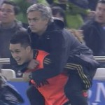 Football GIF: Jose Mourinho's Yoda Piggyback vs Valencia