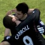 FIFA 12 Glitch Sees Andy Carroll & Lukasz Fabianski Get Incredibly Intimate (Video)