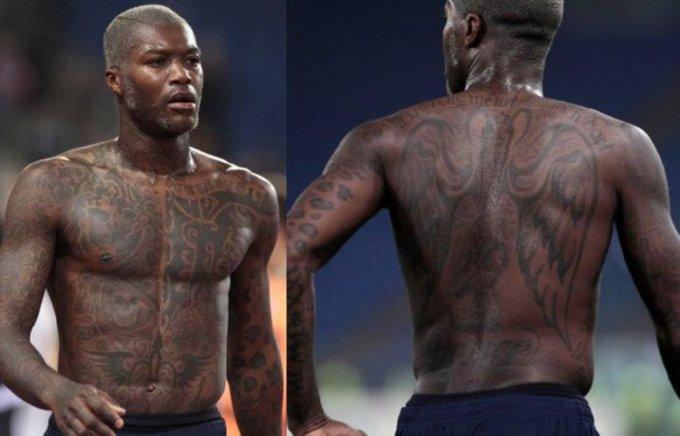 Snapshot Djibril Cisse Not Quite At 100 Tattoo Capacity