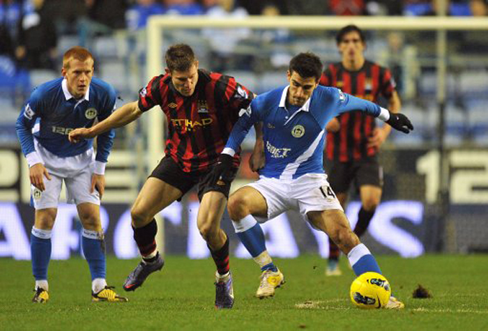 Soccer - Barclays Premier League - Wigan Athletic v Manchester City - DW Stadium