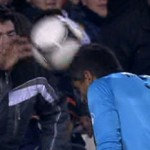 Valencia Fan Bounces Ball Off Player's Head, Gets Carted Off By The Police
