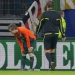 Marko Marin Knocked Clean Off His Feet By Empty Plastic Cup (Video)