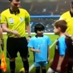 Young Aston Villa Mascot Refuses To Shake Hands With Man City Counterpart (Video)