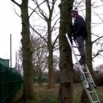 Crafty Norwegian TV Crew Use Ladders To Get Sneaky Peek At Carlos Tevez Return (Video)
