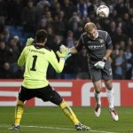 Joe Hart Almost Scores Last Minute Winner For Man City vs Sporting (Video)