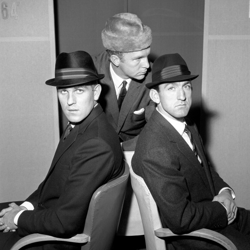 Men's Fashion 1963 http://www.whoateallthepies.tv/kits/113148/30-photos-of-footballers-in-daft-hats.html/attachment/mens-fashion-hats-1963