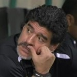 Diego Maradona Attempts To Fight Entire VIP Section After Girlfriend Harassed By Al-Shabab Fans (Video)