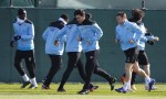 Soccer - UEFA Europa League - Round of 16 - First Leg - Sporting Lisbon v Manchester City - Manchester City Training Session - Carrington Training Ground