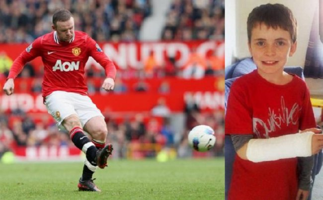 Wayne Rooney As A Kid Wayne Rooney Breaks Year Old Kids Wrist Apologises With Signed