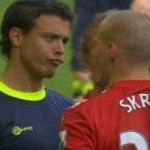Football GIF: Franco Di Santo Gives Martin Skrtel The 'Duck Face' Treatment
