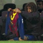 Football GIF: Carles Puyol Helps Pique Get Dressed