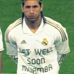 Real Madrid Line Up vs Malaga In 'Get Well Soon Muamba' & 'Animo Abidal' Shirts (Video & GIF)