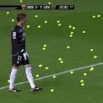 Sevilla Bombard Pitch With Tennis Balls In Protest Over Kick-Off Being Bumped Back By El Clasico (Video)