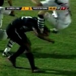 Vasco's Nilton Sent Off After Seven Minutes For Brutal Flying Stamp To Back Of Opponent's Head (Video)