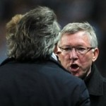 Football GIF: Sir Alex & Mancini Come Perilously Close To Very Nearly Having Scuffle
