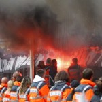 FC Köln Relegated From Bundesliga, Fans Proceed To Set Stadium On Fire (Video)