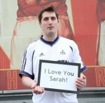 Arsenal Fan Wears Tottenham Shirt Outside The Emirates To Apologise To Girlfriend For Cheating (Video)