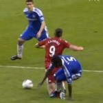 Football GIF: Michael Essien Does Andy Carroll Extreme Physical Discourtesy