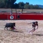 Valencia&#8217;s Mehmet Topal Tries Bullfighting, Bricks Himself When Bull Charges (Video)