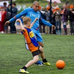 Football GIF: Nigel De Jong Outpaced By Polish Child, Quickly Takes Him Out