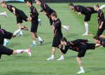 Soccer Euro 2012 Training Poland