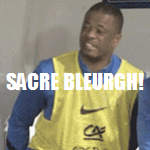 Football GIF: Patrice Evra Wipes Arse With France Shirt, Gives It Cheeky Sniff!