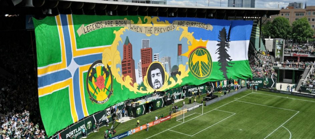 TIFO Display - Timbers Army (Portland)