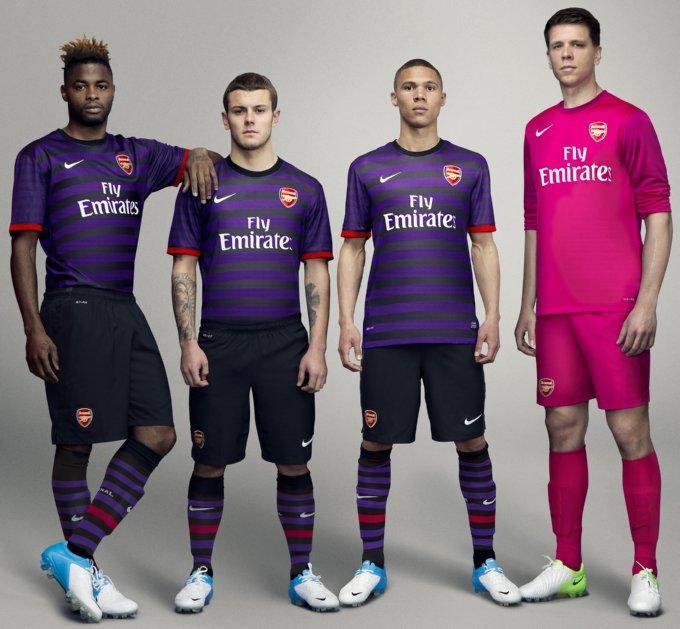new products 8fe87 e212f Arsenal Unleash 2012/13 Away Kit – Start Wearing Purple ...