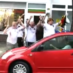 Drunk Germany Fans Celebrate As Poor Woman Tries To Park Her Car (Video)